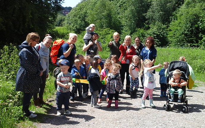 Gigglers Day Nursery on their sponsored walk