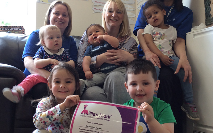 Children and staff at Barton Moss Nursery